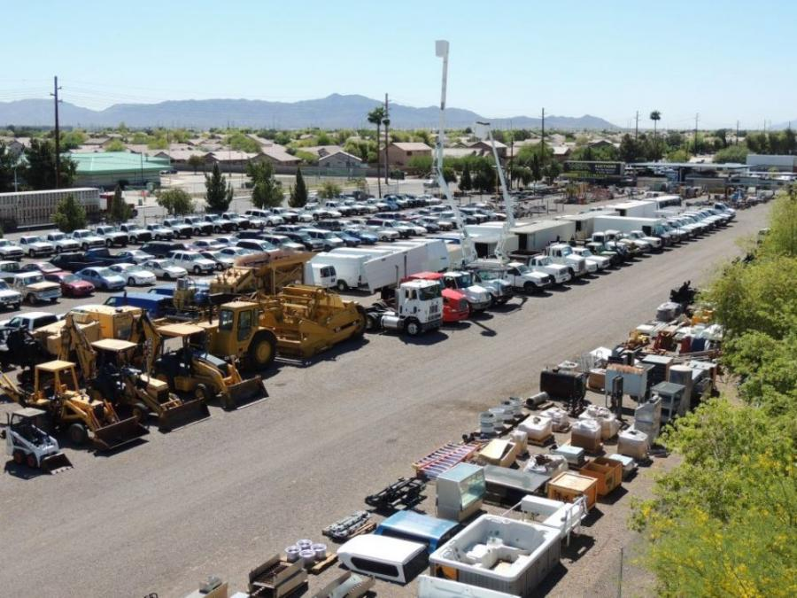 As many as 50 bucket trucks, truck cranes and service trucks go through the auction monthly, in addition to dozens of fleet vehicles, heavy construction equipment and building materials.