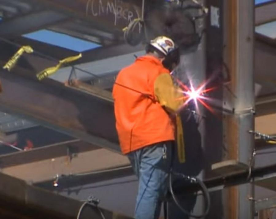 A recent video on the internet is showing that while most of the time, construction workers are considered tough, no-nonsense types, occasionally they show a softer side.