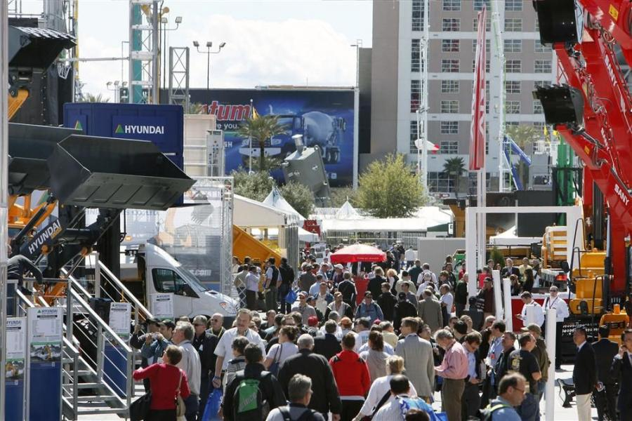 Image from the ConExpo 2011.  This year 2,400 exhibitors showcasing new products and technologies from every major construction industry including asphalt, aggregates, concrete, earthmoving, lifting, mining, utilities and more.