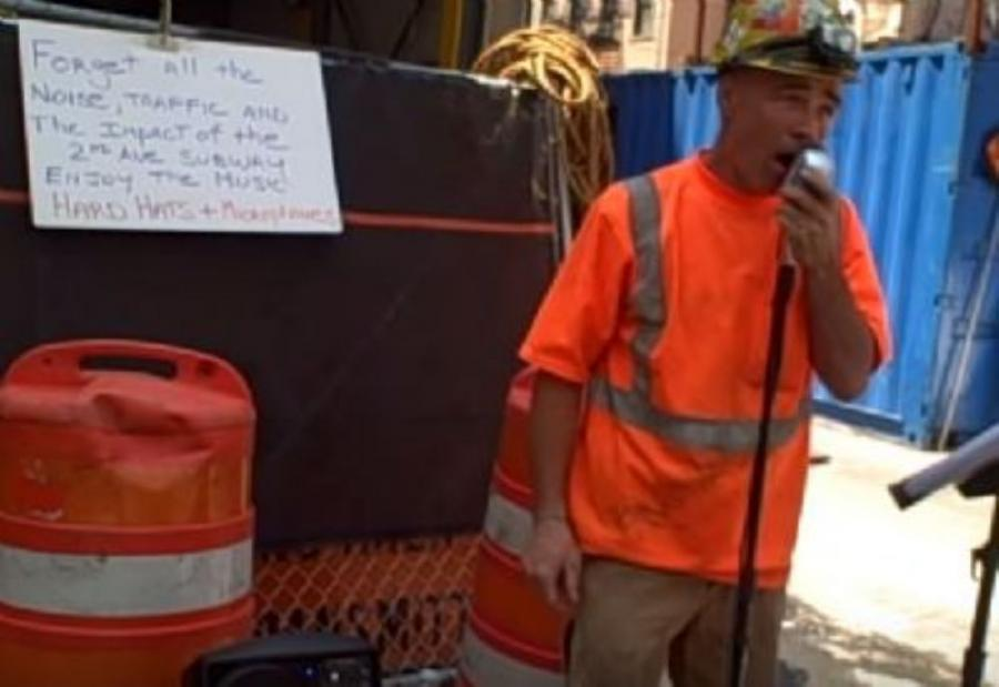 Russo was helping build the future Second Avenue subway under Manhattan's Upper East Side in late July 2011 when he began using his lunch breaks to start singing in public, serenading onlookers.