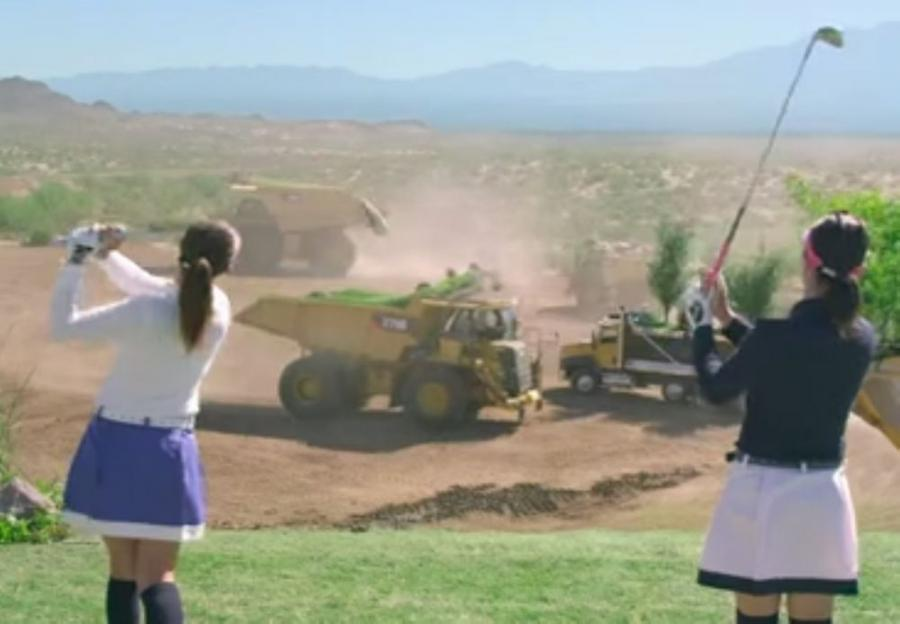Erimo and Marimo Ikeuchi, twin sisters and members of the Ladies Professional Golfers' Association of Japan, take their best shots on this one-of-a-kind course.
