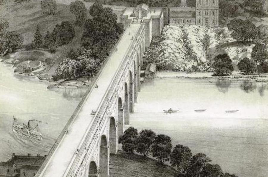 The High Bridge was built in the mid-1800s.