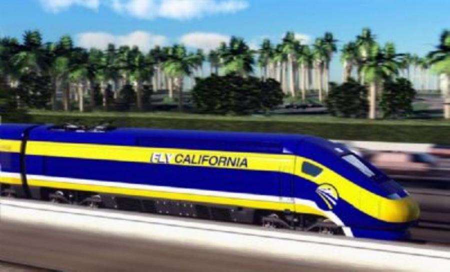 California Gov. Jerry Brown has compared the state's high-speed rail line to construction of the Golden Gate Bridge and the great cathedrals of Europe.