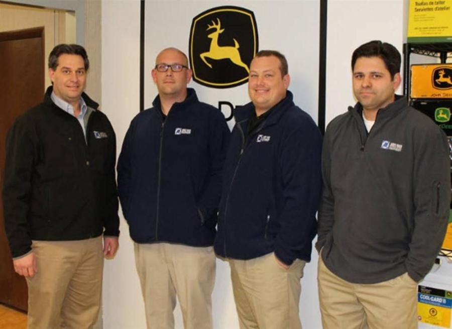 Pictured left to right: Brian Dillenback, General Manager; Allen Foster, Raleigh Parts Manager; Matt Coats, Raleigh Parts Specialist; Michael Scott, Raleigh Parts Specialist.