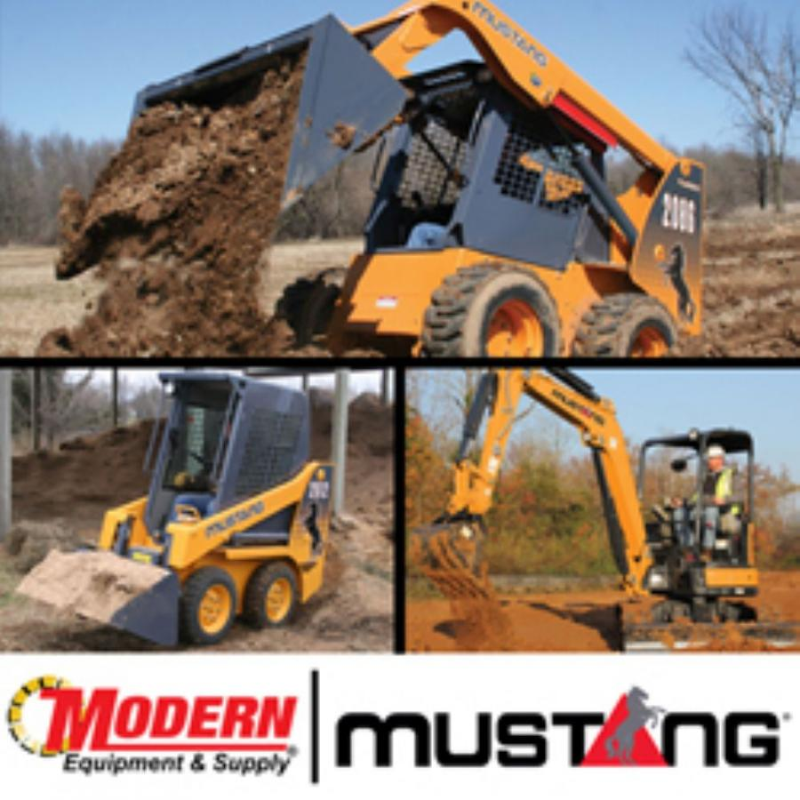 Modern Equipment & Supply will represent the Mustang line of compact dirt and mini-excavation equipment in its territories of Eastern Pennsylvania and New Jersey.