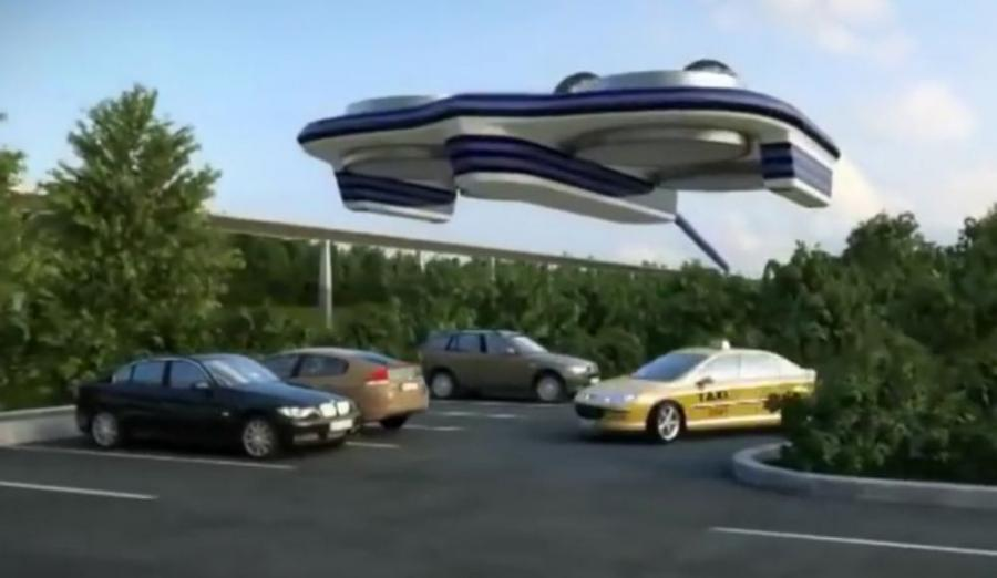 A video has surfaced on the website YouTube showing a possible new mode of transportation that would literally take to the skies.