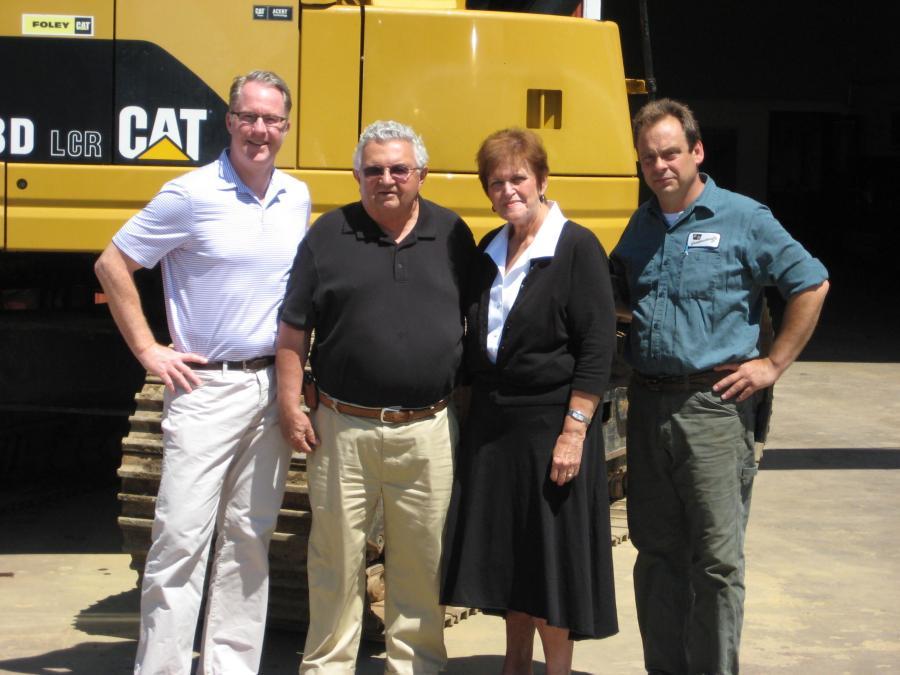 (L-R) are Rusty Fricke, Russ Duryea, Marie Duryea, Sam Richards (equipment manager).