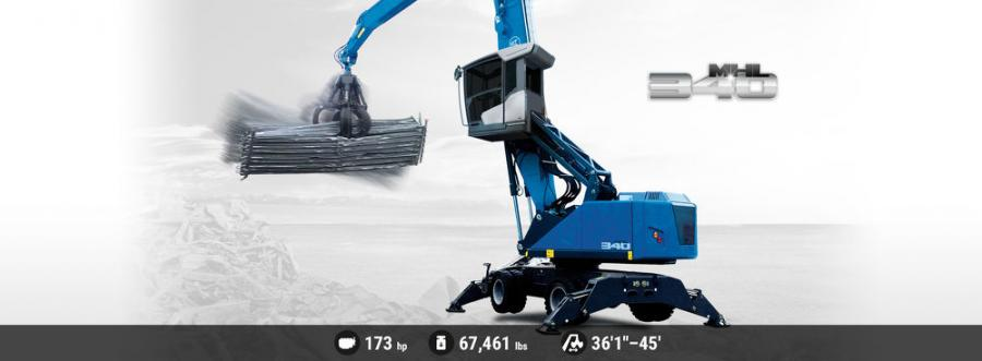The Terex Fuchs MHL340 material handler boasts a powerful and fuel efficient 173 hp (129 kW) turbocharged diesel engine.