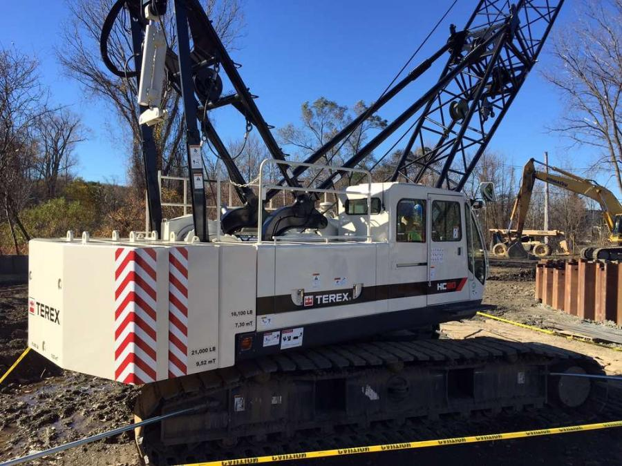 McCrossin recently took delivery of a Terex HC 80 crawler crane from Terex authorized distributor American Contractors Equipment Company.