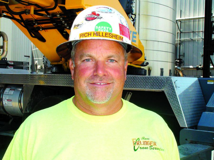 Rich Hillesheim, owner and president of Russ Erlinger Crane Service