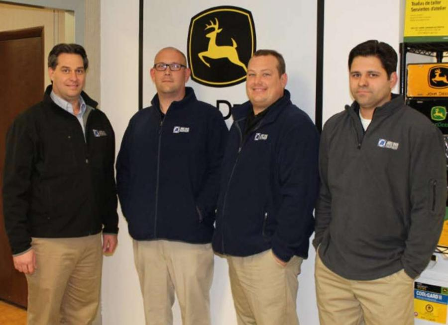 (L-R) are Brian Dillenback, general manager; Allen Foster, Raleigh parts manager; Matt Coats, Raleigh parts specialist; Michael Scott, Raleigh parts specialist.