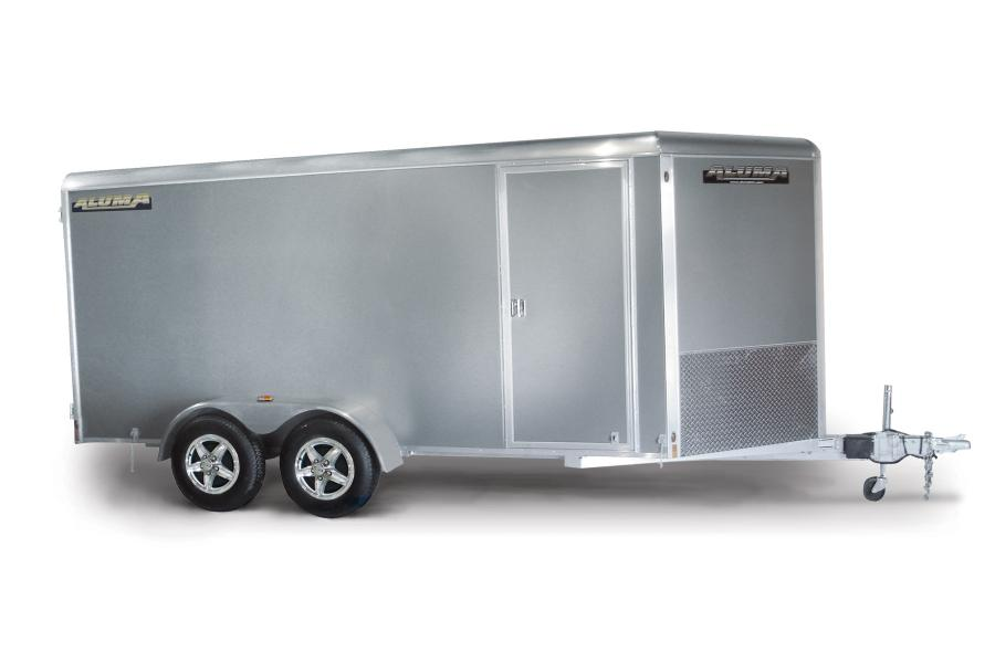 Enclosed aluminum tandem axle trailers from Aluma are ideal for a wide range of construction applications.