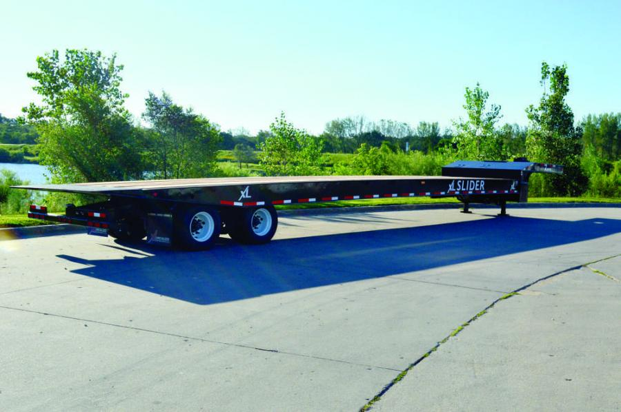 XL Specialized Trailers offers the new XL 80 Slider (slide axle). This two-axle trailer is rated at 80,000 lbs.