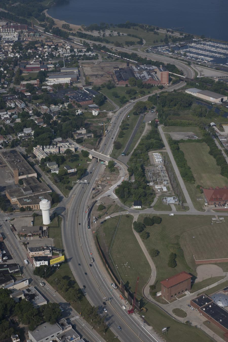 Key elements of the Lakefront West project in Cleveland, an Ohio Department of Transportation and city of Cleveland initiative/partnership, are being constructed during the third and final contract. This $41.5 million phase, awarded to The Great Lakes Con