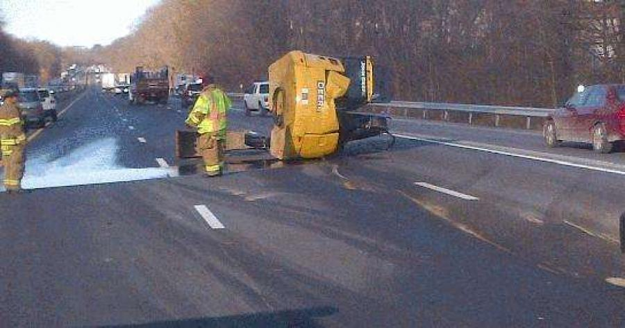 The highway's northbound lanes are closed between Exit 14 in Nanuet and 14A in Chestnut Ridge.