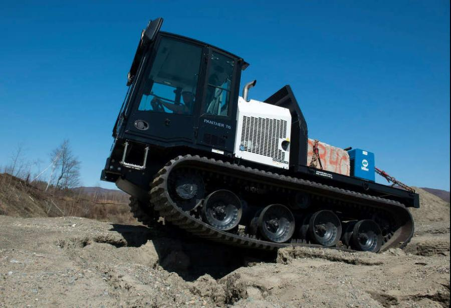 Prinoth's tracked utility vehicles feature a large payload, enabling them to handle a multitude of specialized attachments.