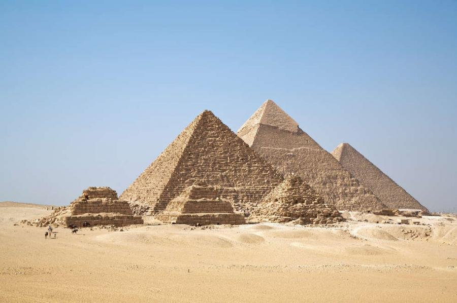 Image courtesy of Ricardo Liberato. An international team of researchers said Sunday they will soon begin analyzing cosmic particles collected inside Egypt's Bent Pyramid to search for clues as to how it was built.