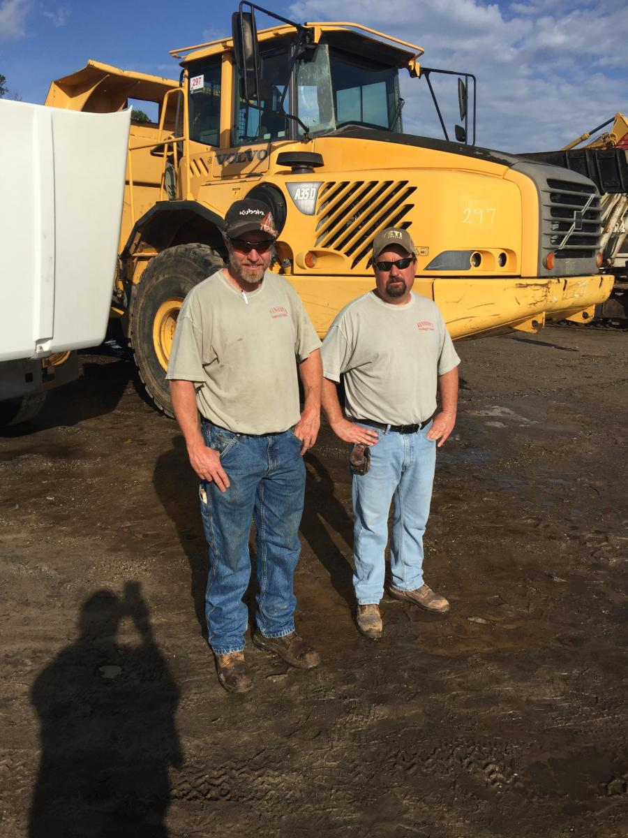 Cale (L) and Brent Kennedy of Kennedy Grading in High Point came to the sale to look for artic trucks and a few excavators.