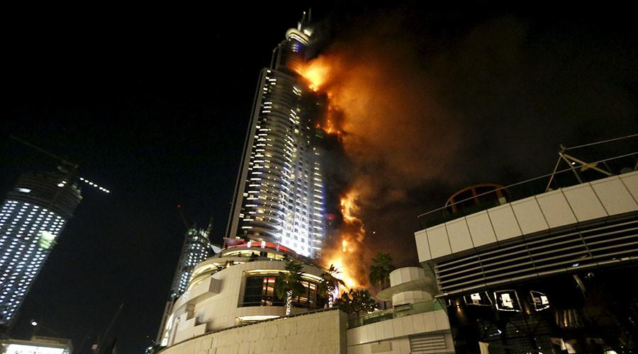 Within minutes, the revelry of New Year's Eve in Dubai turned to horror as those gathered for fireworks downtown watched flames race up the side of one of the glistening city's most prominent luxury hotels.