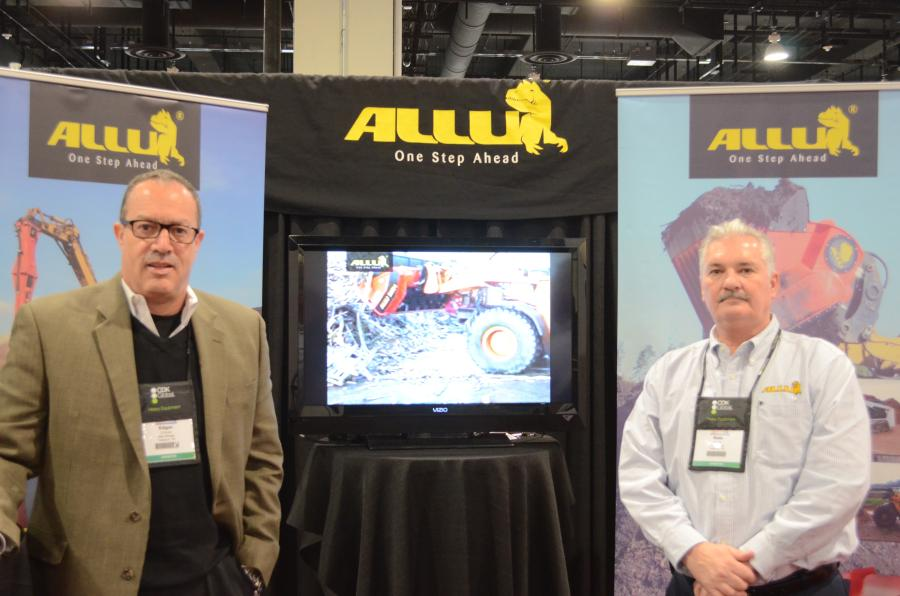 Edgar Chaves (L), president, and Dale Mickle, vice president, both of Allu North America, said they had a great show.