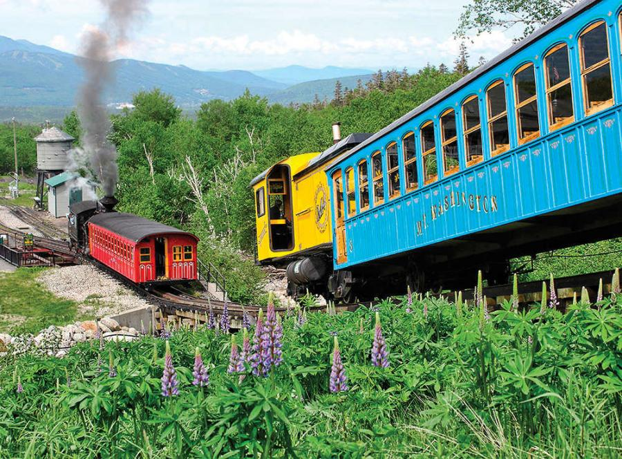 Since 1869, locomotives at Mount Washington Cog Railway have been built in-house using materials obtained locally.