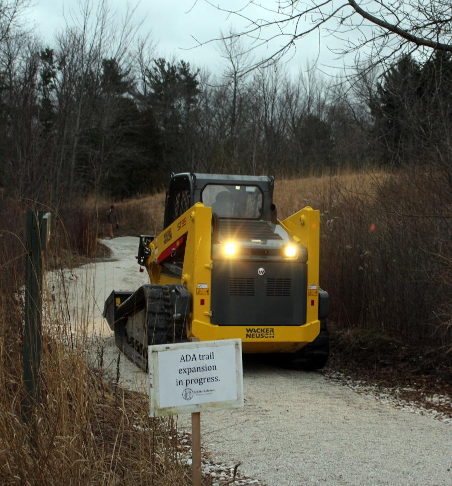 The repair of a pond dike and the construction of a wheel chair accessible trail are two recent projects that required special attention.