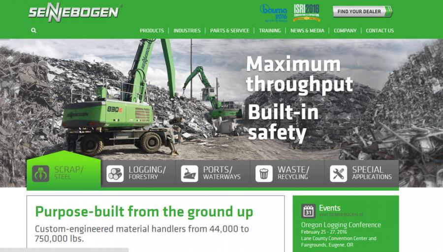 Sennebogen recently launched its new website, designed to turn the spotlight onto the users and the applications for purpose-built material handlers throughout the Americas.