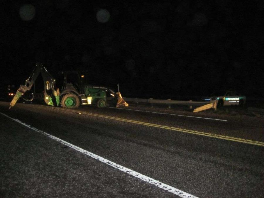 Image courtesy of the Monroe County Sheriff's Department. The man, identified by deputies as 59-year-old Carl Blahnik, took a backhoe from a nearby construction site and drove the vehicle onto the Seven Mile Bridge.