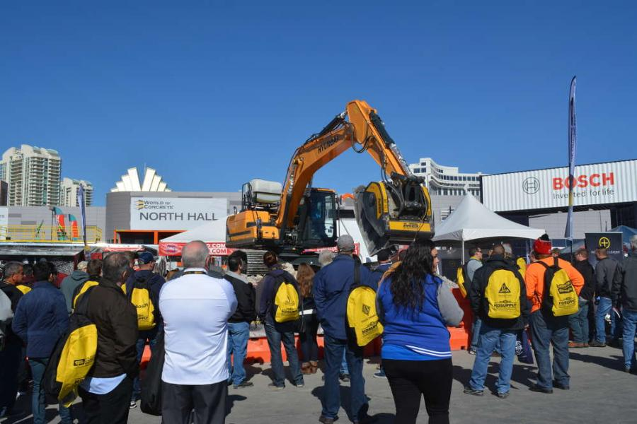 This year, at World of Concrete 2016, the company crushed for another record crowd of attendees.