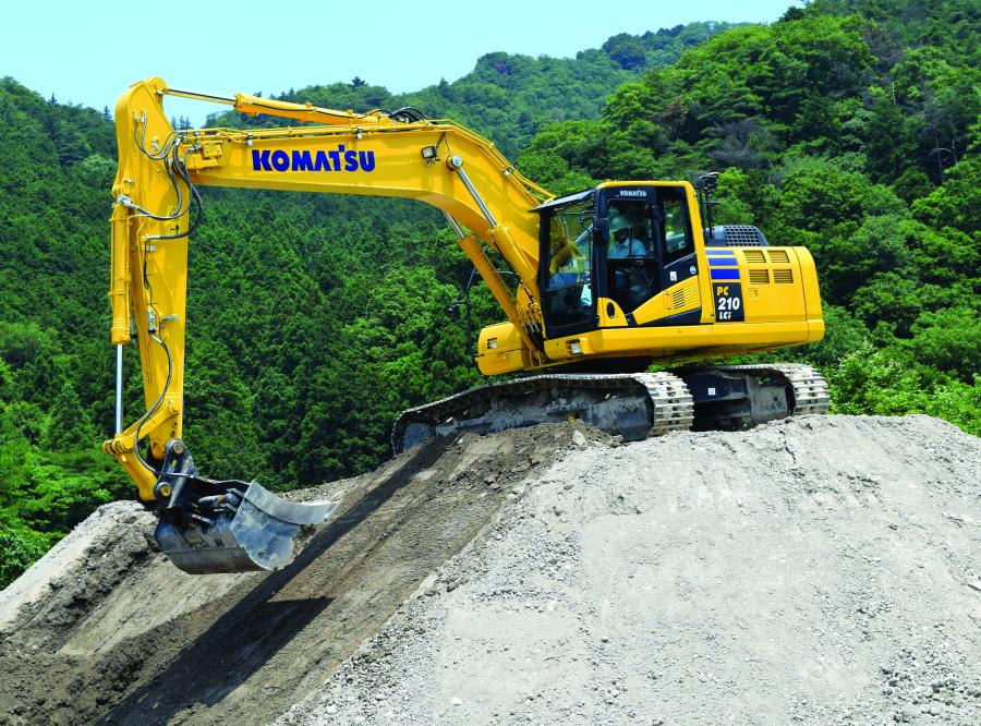 With an operating weight of 52,036 lbs. (23,603 kg), and a net horsepower of 158 hp (118 kW), the PC210LCi-10 is powered by a Komatsu SAA6D107E-2 engine and is EPA Tier IV Interim and EU Stage 3B emissions certified.