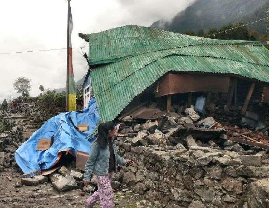 Image courtesy of Sumita Roy Dutta.  Nearly 9,000 people were killed in a 2015 earthquake and aftershocks in Nepal.