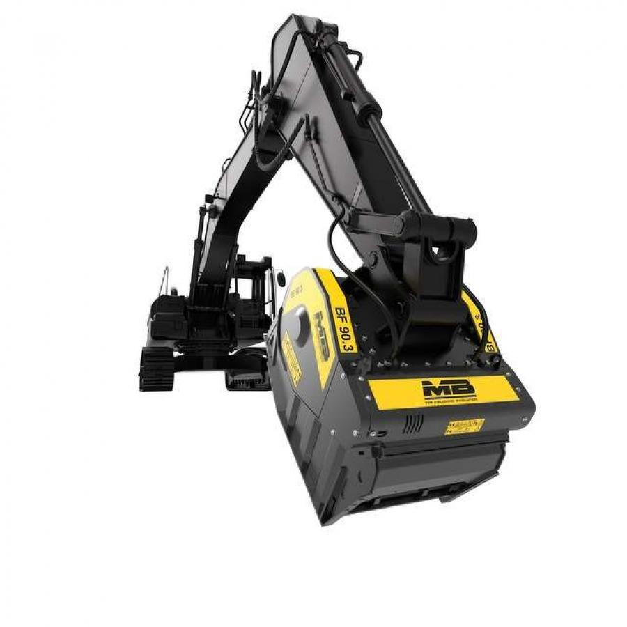 The company's BF product line — and its other crushing attachments — has an adjustable output and uses the auxiliary hydraulic system on excavators, skid steers and backhoes.