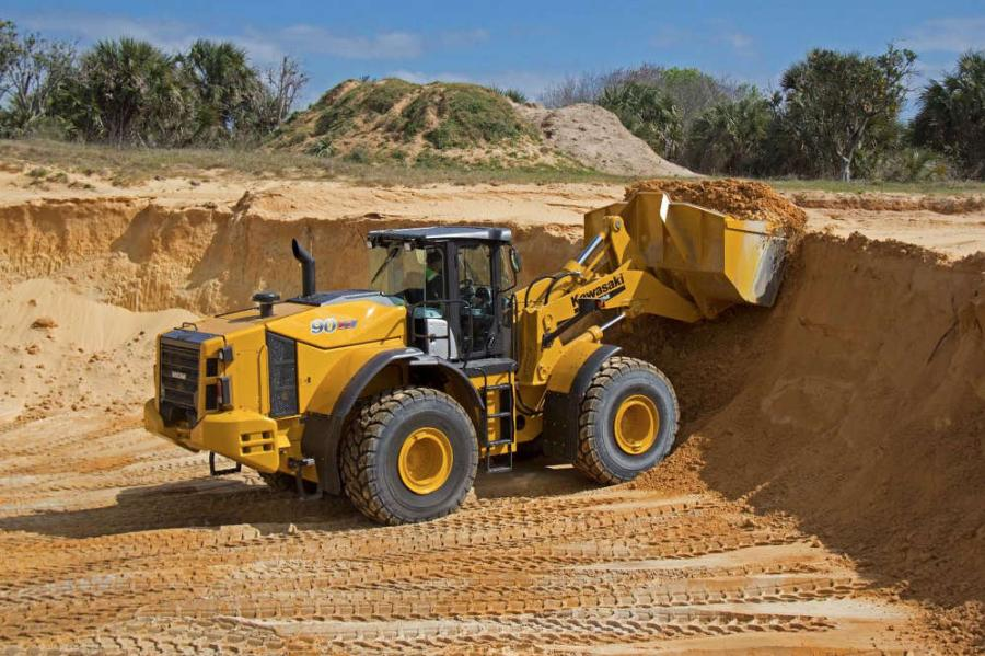 The Kawasaki 90Z7 Tier IV Final wheel loader has features engineered to provide increased efficiency and productivity.