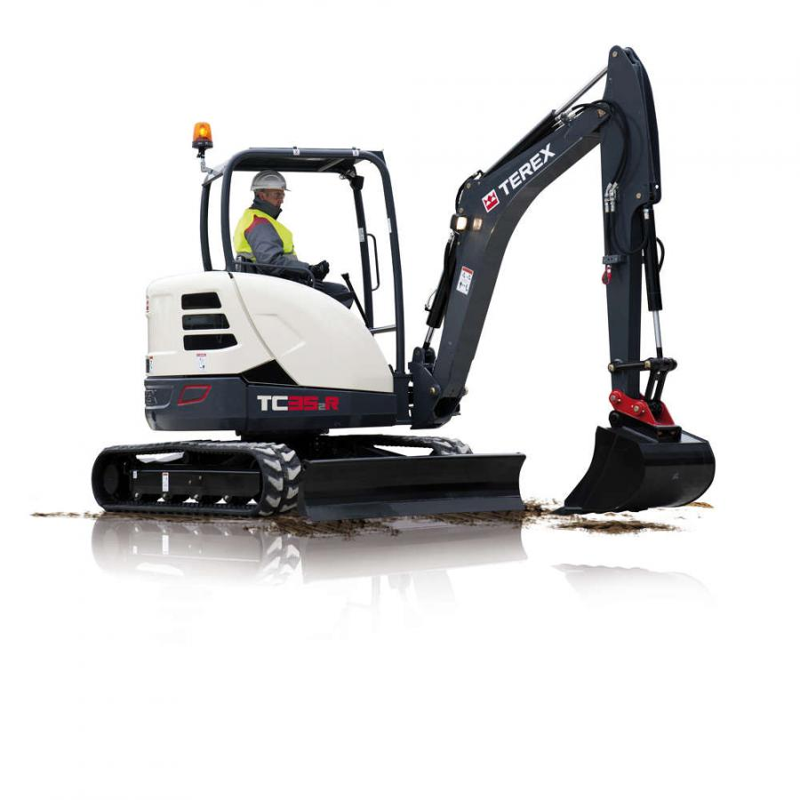 The Terex TC35R-2.  According to Terex, these models were developed with the company's new platform strategy, which emphasizes cost-savings to customers.