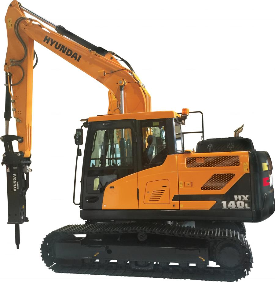 The 15.4 ton (14 t) HX140L excavator from Hyundai Construction Equipment Americas features new technologies that make the operating experience more comfortable, more ergonomic and more user-friendly.