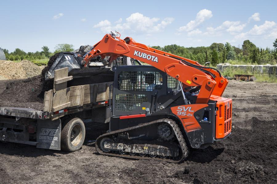 Kubota Tractor Corporation's SVL95-2s compact track loader offers greater multi-tasking capabilities, more powerful hydraulics and more comfort upgrades than ever.