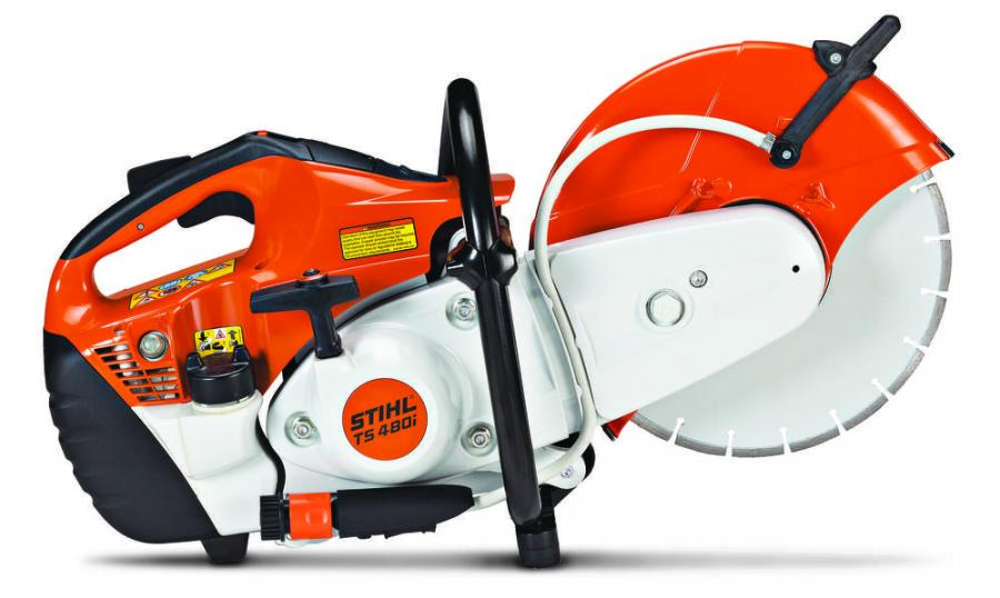 The TS 480i features an electronically controlled fuel-injection system to deliver 17 percent more power and 15 percent greater cutting speed, as compared to the STIHL TS 410, while offering the convenience of electronic water control as standard.