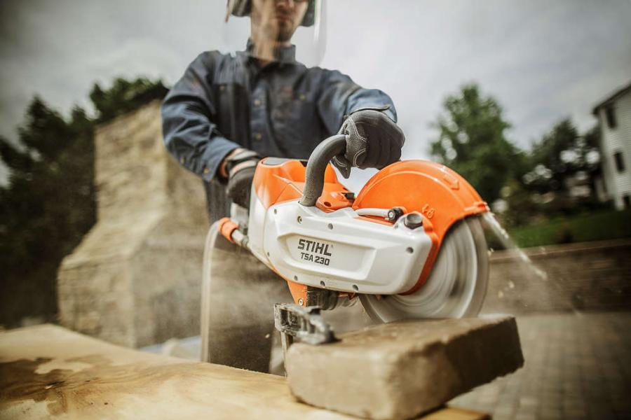 The TSA 230 enables indoor cutting in enclosed spaces and other job sites where users are not permitted to use traditional gasoline-powered cut-off machines.