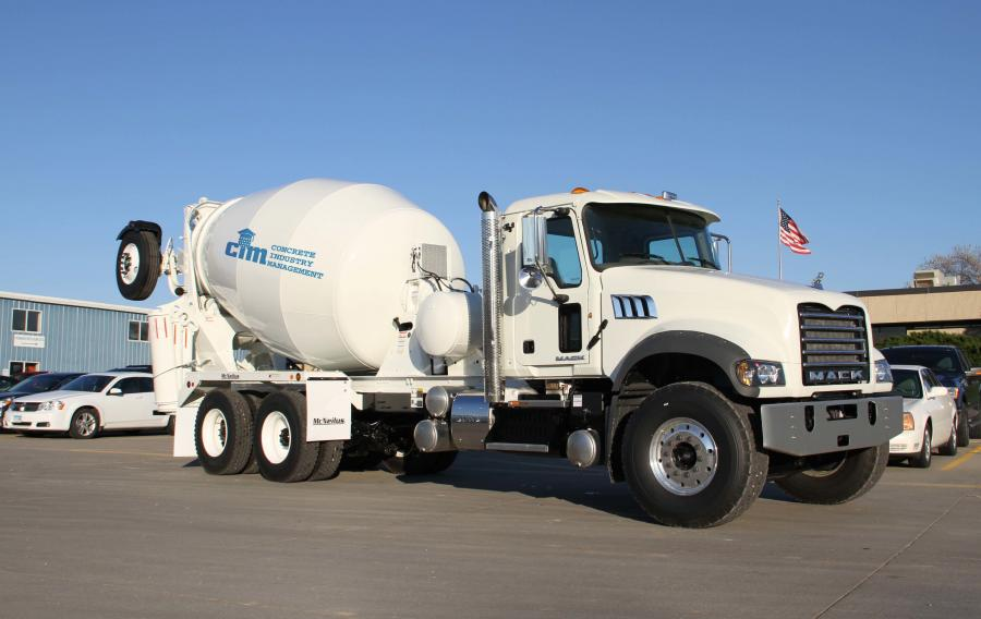 The signature item this year was a Mack Granite Axle Forward model mounted with a McNeilus 11-cubic-yard Bridgemaster concrete transit mixer, donated by Mack Trucks, Inc. and McNeilus Co., a Division of Oshkosh Truck.