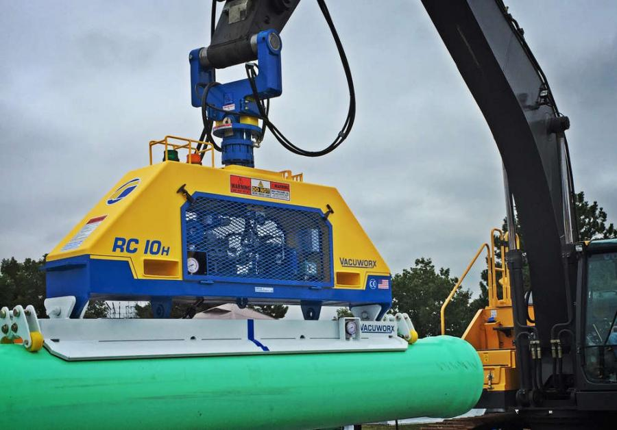 The RC series hydraulic vacuum lifting systems are designed to handle materials from 22,000 to 44,000 lbs. (9,979 to 19,958 kg) in conjunction with large-capacity host carriers.