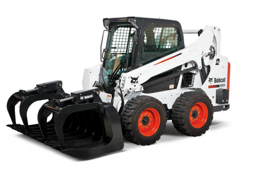 A standard feature for the S595 skid-steer loader is two-speed travel, with a top speed of 11 mph. The feature allows operators to choose between low and high travel speeds to match the jobsite conditions and tasks.