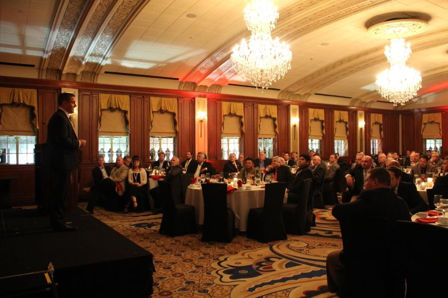 Earlier this month, Terex Cranes honored the efforts of its top distributors in North America during a special awards ceremony in Oklahoma City, Oklahoma.