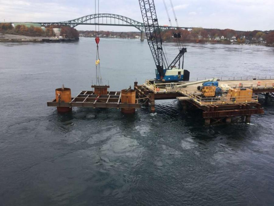 MaineDOT photo. The $170 million bridge replacement is a joint-venture between the Maine and N.H. Departments of Transportation, with MaineDOT serving as the lead.