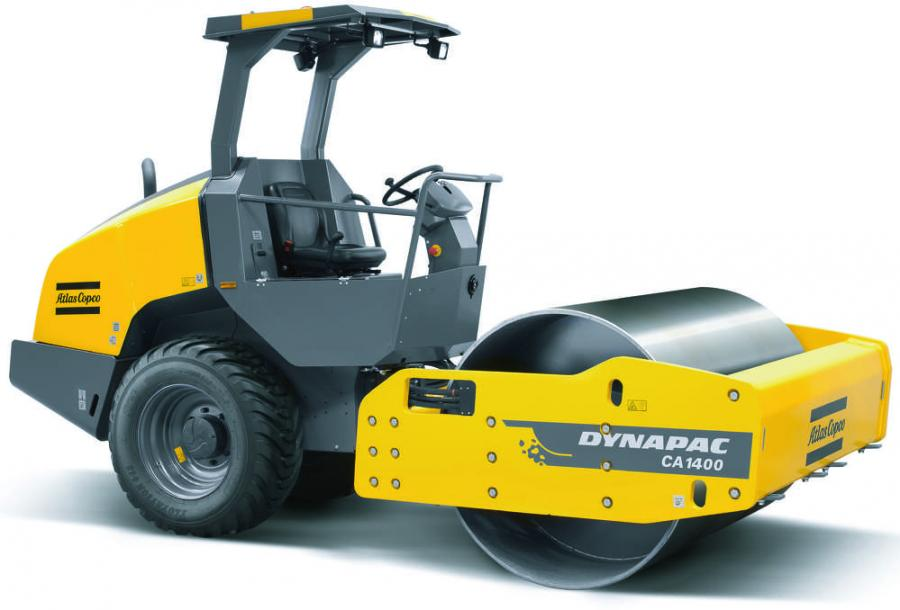 Atlas Copco's CA1400 soil roller allows for high maneuverability and utilization across many applications, including compaction in pipe trenches and on roads, streets and parking lots.