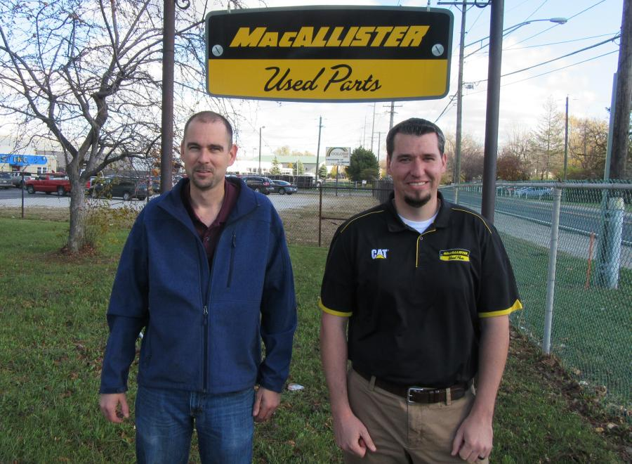 John Toste (L) and Matt Blosser head up MacAllister's used parts department.