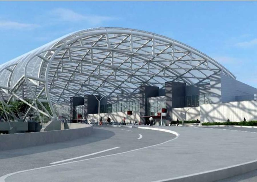 Two giant, translucent canopies spanning several lanes of roadway and sidewalks outside the domestic terminal will be among the most visible aspects of the $6 billion expansion.