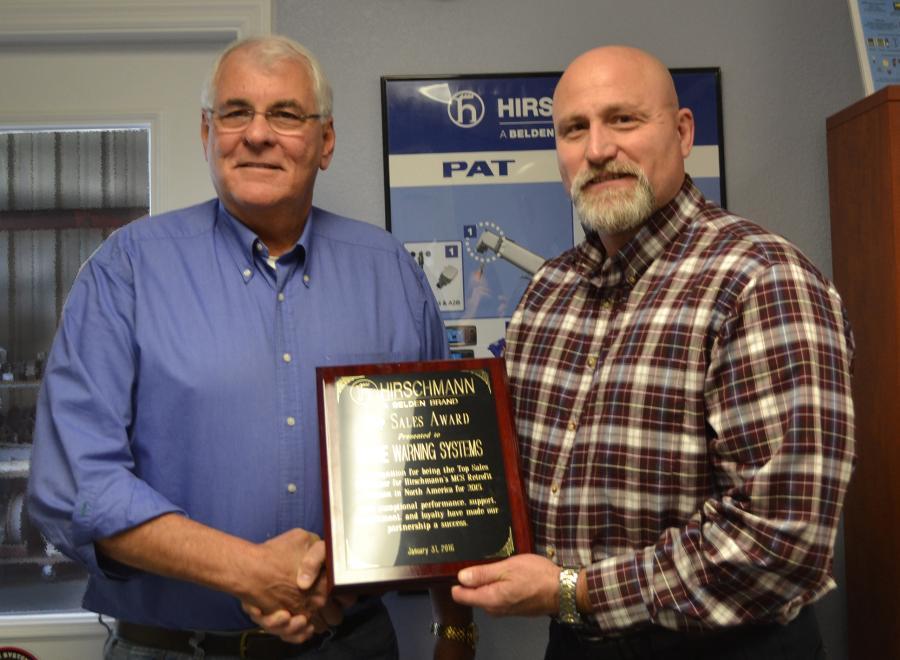 Randy Dickinson (L), Crane Warning Systems and Eric Mowen, Hirschmann.