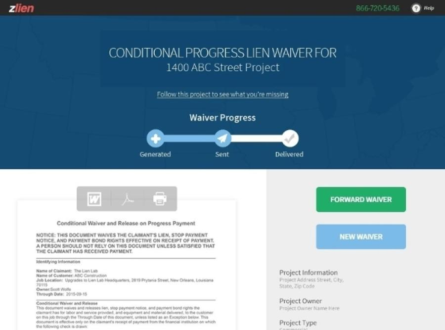 Zlien has launched the industry's first completely free collaborative lien waiver exchange tool.