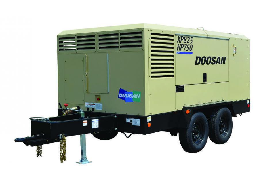 The model delivers the pressure and flow options typical of two units in a single air compressor.
