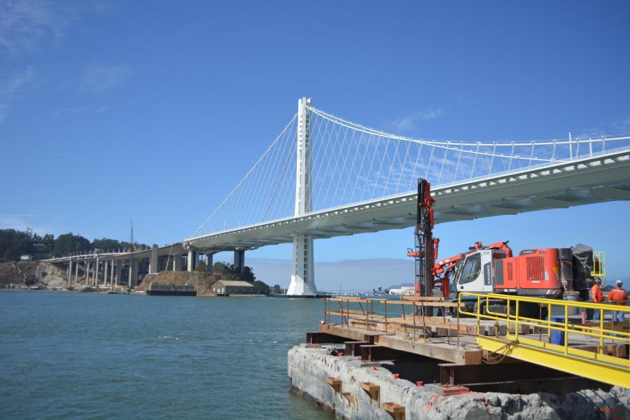 Eighty years after piers were constructed in San Francisco Bay to hold up the eastern span of the San Francisco-Oakland Bay Bridge, a specialized contractor is prepared to blast its sturdy footings.